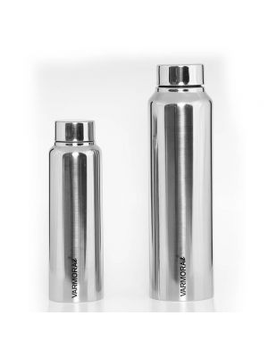 Poto 500 ml. & 1 Ltr. SS Glossy Bottle Silver
