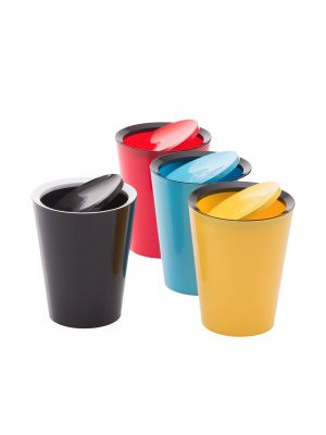 Round Waste Container with Flap
