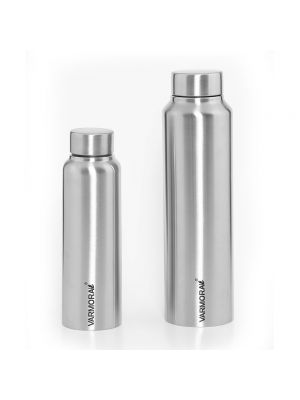 Poto 500 ml. & 1 Ltr. SS Matt Bottle Silver